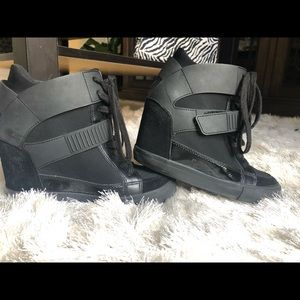 Aldo hightop wedge sneakers